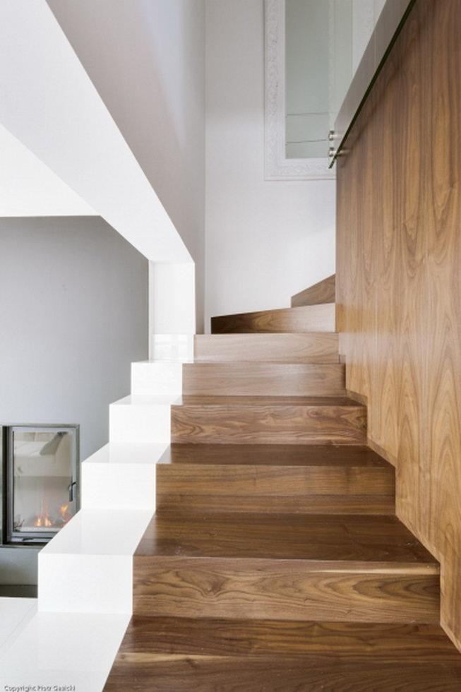 Scale interne in legno guida introduttiva e 40 idee per for Casa moderna in legno
