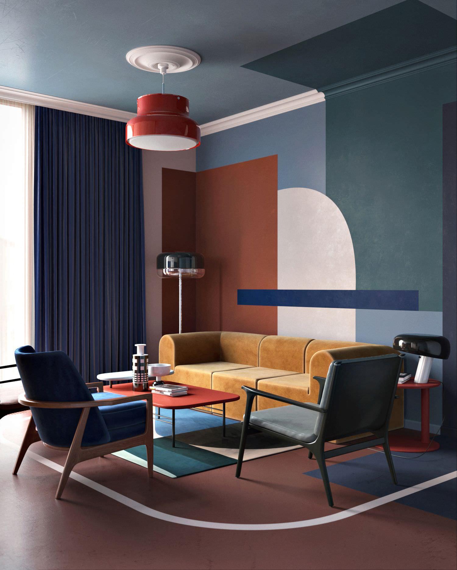 Colore pareti soggiorno cambiare stile senza spendere for Salotto casa moderna