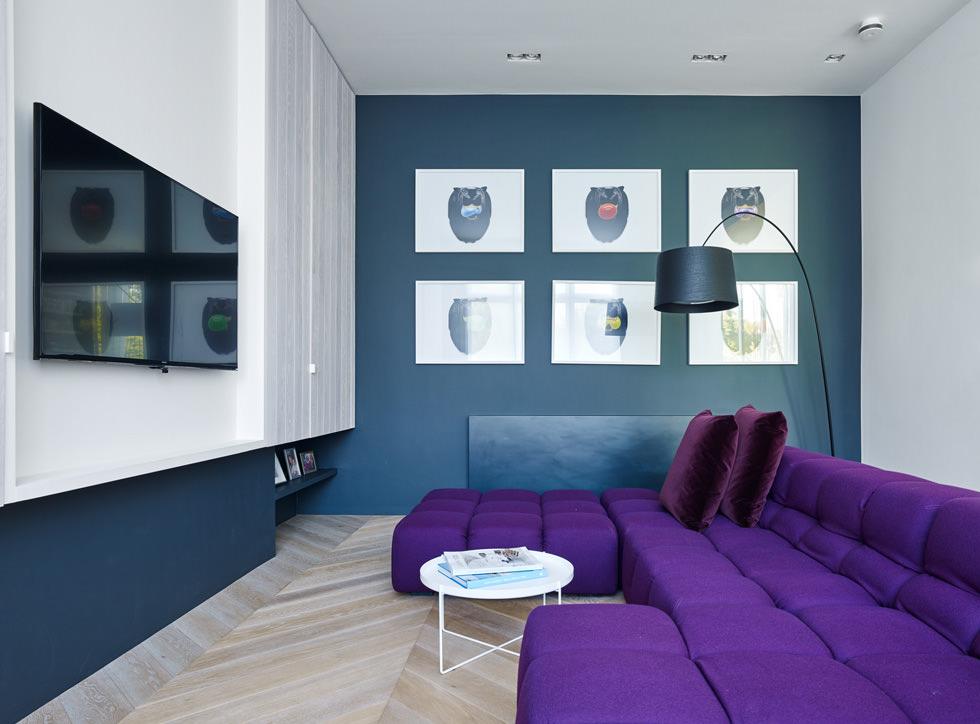 Colore pareti soggiorno cambiare stile senza spendere for Pareti colorate casa moderna