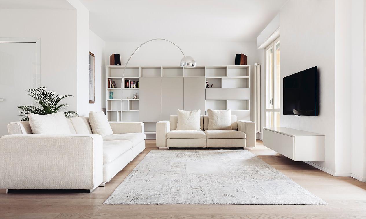 Soggiorno contemporaneo 100 idee e ispirazioni per il for Arredamento casa bianco