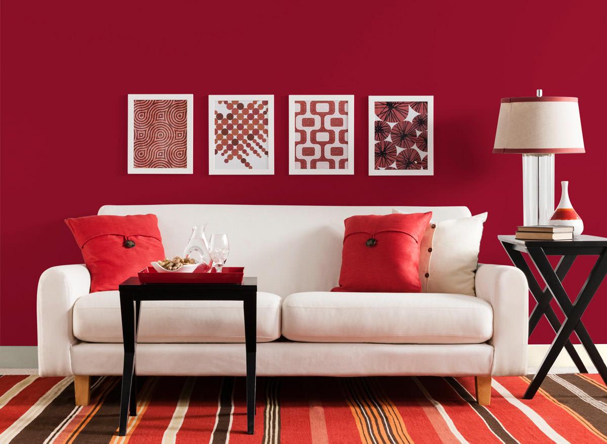 Divano Rosso E Grigio soggiorno moderno • 100 idee per il salotto perfetto