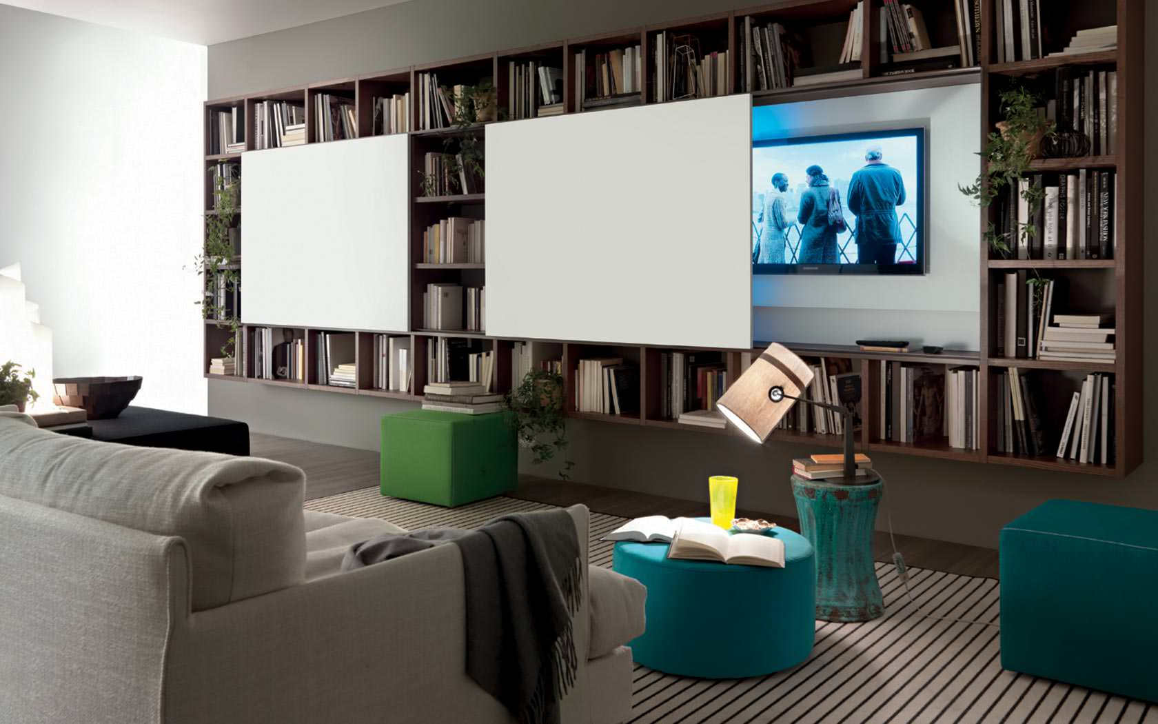 Soggiorno moderno 100 idee per il salotto perfetto for Parete attrezzata design moderno