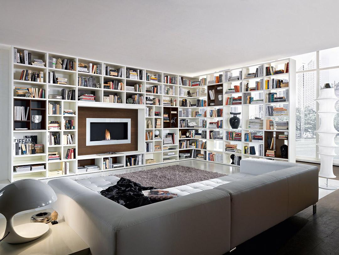 Libreria Moderna Per Soggiorno