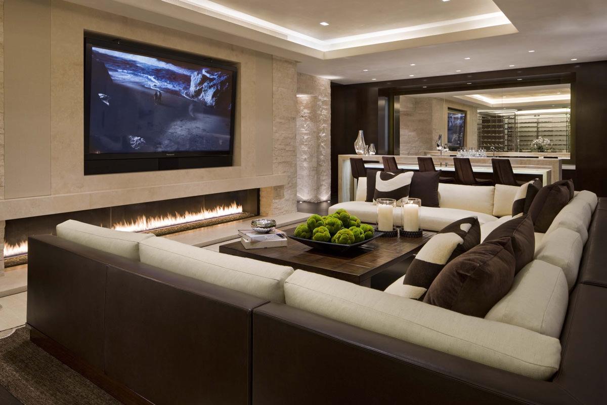 Mobile Tv Con Camino soggiorno moderno • 100 idee per il salotto perfetto