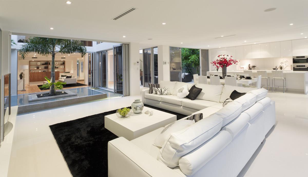 Soggiorno moderno 100 idee per il salotto perfetto for Case moderne interni open space