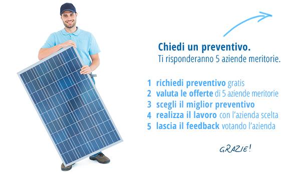 Slider richiesta preventivi fotovoltaico e impianti fotovoltaici