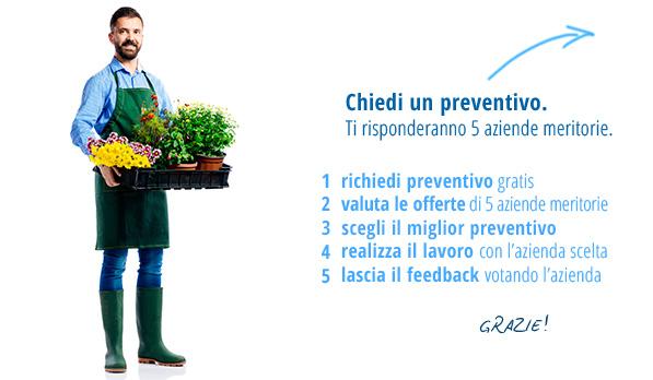 Slider richiesta preventivi giardiniere