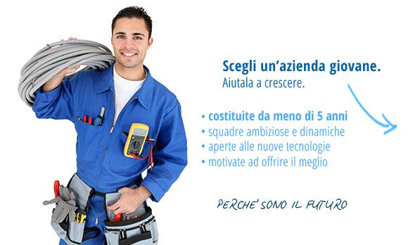 Slider richiesta preventivi elettricista e impianti elettrici - giovani
