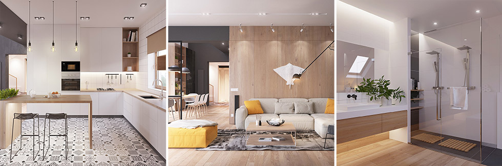 CASA // Originale appartamento in stile scandinavo