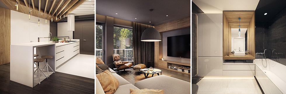 CASA // Appartamento moderno elegante e drammatico