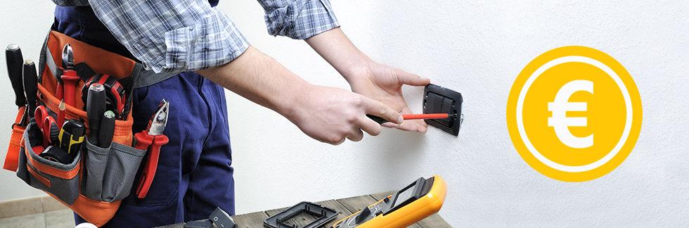 Schema Elettrico Per Due Punti Luce : Costo elettricista u guida ai costi orari e di manodopera u prezzo